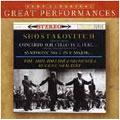 Shostakovich: Symphony No.1, Cello Concerto / Mstislav Rostropovich, Eugene Ormandy, Philadelphia Orchestra