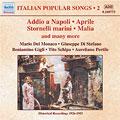 ITALIAN POPULAR SONGS VOL.2 -COTTRAU:ADDIO A NAPOLI/TOSTI :APRILE/ARONA:LA CAMPANA DI SAN GIUSTO/ETC