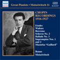 Great Pianists -Benno Moiseiwitch Vol.11 -Chopin Recordings 1916-1927: Berceuse Op.57, Prelude No.20, etc