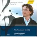 Mendelssohn: String Symphonies No.1-No.4, No.9 (1-6/2008) / Thomas Fey(cond), Heidelberg SO