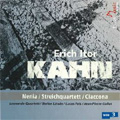 E.I.Kahn: Nenia, String Quartet, Ciaccona dei Tempi di Guerra (1995-2003) / Leonardo Quartet, Stefan Litwin(p), Lucas Fels(vc), Jean Pierre Collot(p)