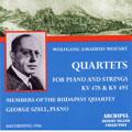 Mozart: Piano Quintet nos 1 & 2, Brahms: Piano Quintet / Szell, Budapest SQ