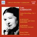 Lotte Lehmann -Lieder Recordings Vol.3 -Schumann:Frauenliebe und -Leben Op.42/Schubert:Winterreise Op.89 D.911/etc (1941):Bruno Walter(p)/etc