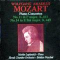 Mozart: Piano Concertos No.11, No.14 / Marian Lapsansky, Bohdan Warchal, Slovak Chamber Orchestra