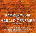 In Memoriam - Chamber Music of Harald Genzmer: Cello Sonata No.2, Piano Sonata, Concerto for Piano & Percussion / Julius Berger(vc), Margarita Hohenrieder(p), Peter Sadlo(perc)