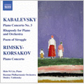 Kabalevsky: Piano Concerto No.3 Op 50, Rhapsody on the Theme of the Song School Years, Op 75, etc; Rimsky-Korsakov: Piano Concerto Op 30 / Hsin-ni Liu(p), Gnesin Academy Chorus, Dmitry Yablonsky(cond), Russian Philharmonic Orchestra, etc