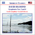 D.Diamond: Symphonies No.2, No.4
