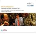 B.Maderna: Complete Works for Orchestra Vol.2 / Arturo Tamayo, Frankfurt Radio Symphony Orchestra, etc