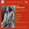 Lotte Lehmann -Lieder Recordings Vol.4 (1941) :Brahms/Wagner/H.Wolf/R.Sieczynski/etc:Paul Ulanowsky(p)