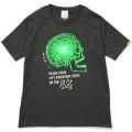 121 クレイジーケンバンド 横山剣 NO MUSIC, NO LIFE. T-shirt (グリーン電力証書付き) Black&Green/Sサイズ