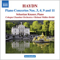 Haydn: Piano Concertos No. 3, 4, 9 & 11 / Sebastian Knauer(p), Helmut Muller-Bruhl(cond), Cologne Chamber Orchestra