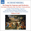 Schoenberg: 6 Songs Op.8, Friede auf Erden Op.13, 6 Pieces Op.35, etc / Robert Craft(cond), Philharmonia Orchestra, Jennifer Welch-Babidge(S), etc