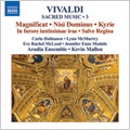 Vivaldi : Sacred Music Vol.3 -Magnificat RV.611, Salve Regina RV.617, Concerto Madrigalesco RV.129, etc (1/9-12/2007) / Kevin Mallon(cond), Aradia Ensemble, Carla Huhtanen(S), Lynne McMurtry(Ms), etc