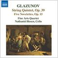グラズノフ:5つのノヴェレッテ/弦楽五重奏曲
