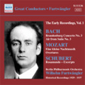 Great Conductor Wilhelm Furtwangler Early Recordings Vol.1 - J.S.Bach: Brandenburg ConFurtwangler, Wilhelm certo No.3; Mozart: Eine kleine Nachtmusik; Schubert: Rosamunde (excerpts) / Wilhelm Furtwangler(cond), Berlin Philharmonic Orchestra