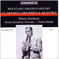 Mozart: Clarinet Concerto KV.622, Clarinet Quintet KV.581 (1956) / Benny Goodman(cl), Charles Munch(cond), BSO