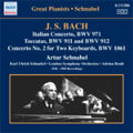 Great Pianists Schnabel - J.S.Bach: Italian Concerto, Toccatas, Concerto for 2 Keyboards BWV 1061 (1936-1950) / Artur Schnabel(p), Adrian Boult(cond), London Symphony Orchestra