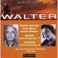 Brahms: Violin Concerto, Goldmark: Violin Concerto no 1 / Morini, Milstein, Walter, NYP