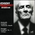 "Hindemith:Symphony ""Die Harmonie Der Welt""/Honegger:Symphony No.3 ""Liturgy"":Eugen Mravinsky"