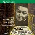 THE LEGACY OF MARIA GRINBERG VOL.1:BEETHOVEN:PIANO SONATAS:NO.8(1951)/NO.14(1959)/NO.23(1960)