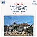 Haydn: Piano Sonatas, Vol 9