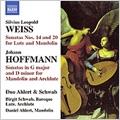 S.L.Weiss: Lute Sonata No.20/No.14/J.Hoffmann:Mandolin Sonatas:Birgit Schwab(baroque-lute&archlute)/Daniel Ahlert(mandolin)