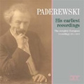 Ignacy Paderewski -His Earliest Recordings 1911-1912