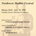 NORTHWEST MAHLER FESTIVAL:MAHLER:SYMPHONY NO 6:RACHMANINOV:PAGANINI RHAPSODY/R.STRAUSS:TILL EULENSPIEGELS LUSTIGE:GEOFFREY SIMON/NORTHWEST MAHLER FESTIVAL ORCHESTRA/CRAIG SHEPPARD