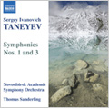 Taneyev: Symphony No 3 in D minor, Symphony No 1 in E minor / Thomas Sanderling(cond), Novosibirsk Academic Symphony Orchestra