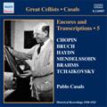 Great Cellists -Casals :Encores & Transcriptions Vol.5 -Complete Acoustic Recordings Part.3:Chopin/F.N.Crouch/Elgar/etc (1920-25):Pablo Casals(vc)/Walter Golde(p)/etc