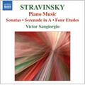 Stravinsky: Solo Piano Music -Piano-Rag-Music, Circus Polka, Piano Sonata, etc / Victor Sangiorgio(p)