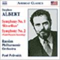 """S.Albert:Symphonies No.1 """"RiverRun""""/ No.2 :Paul Polivnick(cond)/Russian Philharmonic Orchestra"""