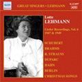 Lotte Lehmann -Lieder Recordings Vol.6 -Schubert, Brahms, Schumann, etc (1947 & 1949) / Paul Ulanowsky(p), etc