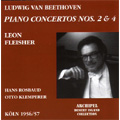 Beethoven: Piano Concerto No.4 (2/27/1956), No.2 (11/18/1957), Egmont Overture (5/1955) / Leon Fleisher(p), Hans Rosbaud(cond), Otto Klemperer(cond), Koln Radio Symphony Orchestra