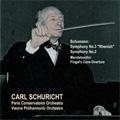 """Schumann: Symphonies No.3 Op.97 """"Rhenish"""" (6/1953), No.2 Op.61 (7/1952); Mendelssohn: Hebrides Overture Op.26 (4/26-27/1954) / Carl Schuricht(cond), PCO, VPO"""