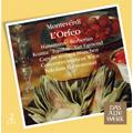 Monteverdi: L'Orfeo / Nikolaus Harnoncourt(cond), Concentus Musicus Wien, Rotraud Hansmann(S), Lajos Kozma(T), etc