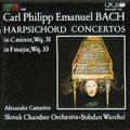 C.P.E.Bach: Harpsichord Concertos / Alexander Cattarino, Bohdan Warchal, Slovak Chamber Orchestra