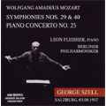 Mozart: Symphony No 29 & 40, Piano Concerto No 25 / Leon Fleisher, George Szell, Berlin Philharmonic Orchestra