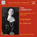Lotte Lehmann -Lieder Recordings Vol.5: Schubert, R.Strauss (1941-42) / Paul Ulanowsky(p)