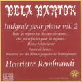 Bartok: Integrale pour Piano Vol.2 / Henriette Rembrandt