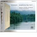 "Schumann: Symphonies No.3 Op.97 ""Rhenish"", No.4 Op.120 (Revised Edition), Manfred Overture Op.115, Herman and Dorothea Overture Op.136  / Thomas Dausgaard(cond), Swedish Chamber Orchestra"