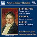 Beethoven: Sonata No. 3 In E Flat For Violin And Piano, Op. 12 No. 3/Franck: Sonata In A Major For Violin And Piano/Lekeu: Sonata In G Major For Violin And Piano:Yehudi Menuhin