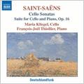 マリア・クリーゲル/Saint-Saens:Cello Sonatas No.1 op.32/No.2 op.123/ Suite op.16:Maria Kliegel(vc)/Francois-Joel Thiollier(p)[8557880]