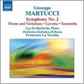 フランチェスコ・ラ・ヴェッキア/Martucci: Symphony No. 2 in F major - Op.81, Theme and Variations - Op.58, Gavotta - Op.55 - No.2, Tarantella - Op. 44 - No.6 / Francesco La Vecchia, Rome Symphony Orchestra, Lya de Barberiis[8570930]