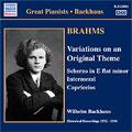 ヴィルヘルム・バックハウス/BRAHMS:SOLO PIANO WORKS:SCHERZO IN E FLAT MINOR, OP. 4/VARIATIONS ON AN ORIGINAL THEME IN D MAJOR, OP. 21/ETC:WILHELM BACKHAUS(p)[8111041]