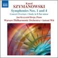 """ワルシャワ・フィルハーモニー管弦楽団/Szymanowski: Symphonies, Concert Overture - Op.12, Symphony No.1 in F minor - Op.15, Symphony No. 4 """"Symphonie Concertante"""" Op.60, Study in B flat minor - Op.4 - No.3 / Antoni Wit, Warsaw Philharmonic Orchestra [8570722]"""