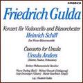 F.GULDA:CONCERTO FOR CELLO & BRASS ORCHESTRA/CONCERTO FOR URSULA:H.SCHIFF(vc)/U.ANDERS(vo/timpani/perc)/F.GULDA(cond)/BERLIN PHILHARMONIC'S STRINGS