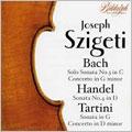 J.S.BACH:SONATA FOR VIOLIN SOLO BWV.1005/VIOLIN CONCERTO IN G MAJOR/HANDEL:VIOLIN SONATA NO.4/TARTINI:VIOLIN SONATA IN G MAJOR/VIOLIN CONCERTO IN D MAJOR:JOSEPH SZIGETI(vn)/CARLO BUSSOTTI(p)/GEORGE SZELL(cond)/COLUMBIA SO