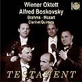 ウィーン八重奏団員/ブラームス: クラリネット五重奏曲 Op.115、モーツァルト: クラリネット五重奏曲 K.581[SBT1282]