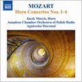 Jacek Muzyk/Mozart: Horn Concertos No.1-No.4 (2/8-9/2006) / Jacek Muzyk(hrn), Agnieszka Duczmal(cond), Polish Radio Amadeus Chamber Orchestra[8570419]